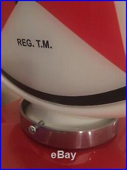 Texaco Gas Pump Milk Glass Globe One Piece Body With Lenses