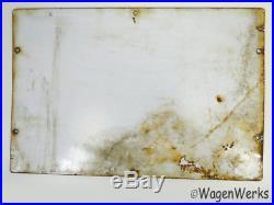 Texaco Gas Pump Porcelain Sign dated 1947 Original -1