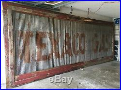 Texaco Gas Roof Sign- Rare Country Store/gas Pump Station Vintage Original 18ft