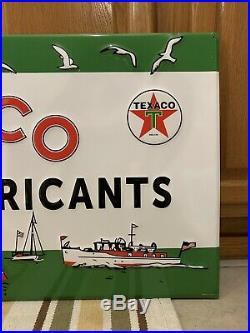 Texaco Marine Lubricants Gas Oil Garage Boat Vintage Style Water Sports Engine