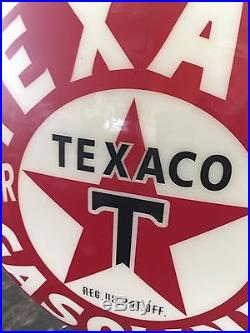Texaco Milk Glass 16.5 Gas Pump Globe Remake Of And Original From The 1920s