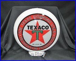 Texaco Petroleum Products Gas Pump Globe