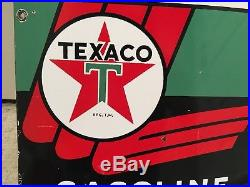 Texaco Porcelain Sign Pump Plate collectible 1955 Gas Pump Vintage Canada