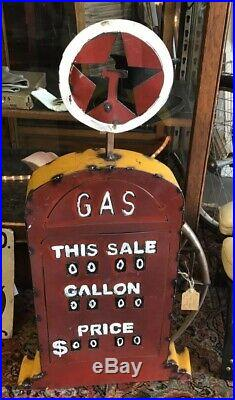 Texaco Red Tin Gas Pump