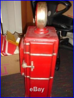 Texaco Replica Minachure Hand Made Medal Gas Pump. CD/DVD Holder