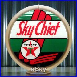 Texaco Sky Chief Gasoline 13.5 Gas Pump Globe Lenses (1 Pair)
