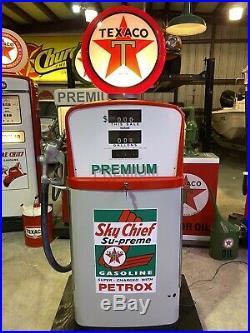 Texaco Sky Chief Smithway 483 FULL SIZE GAS PUMP VINTAGE PETROLIANA STYLE