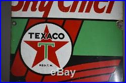 Texaco Sky Chief Super Charged Petrox Porcelain Gas Pump Sign