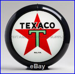 Texaco Star 13.5 Gas Pump Globe with Black Plastic Body (G192)