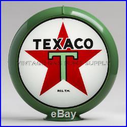 Texaco Star 13.5 Gas Pump Globe with Green Plastic Body (G192)