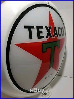 Texaco Star Milk Glass Gas Pump Globe