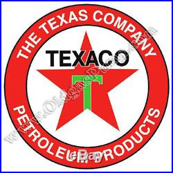 Texaco Texas Company Petroleum Products Gas Pump Sign 25.5 BS-183 Free Shipping