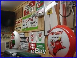 Texaco Vintage Sky Chief 1946 Porcelain Gasloine Gas Pump Sign