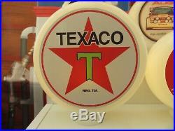Texaco Vintage Style Gas Pump Globe Glass Art Desk Lamp