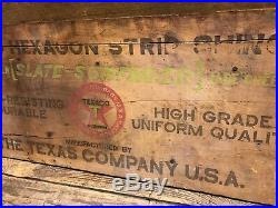 Texaco Wood Sign Hexagon Strip Shingles Gas Pump Station Oil Can Not Porcelain