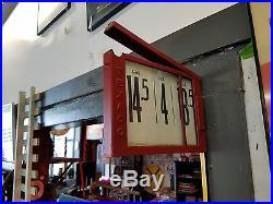 Texaco gas pump price sign original, repainted with price cards (2)