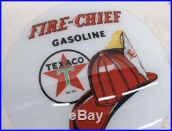 VINTAGE GAS PUMP SUPPLY Texaco Fire Chief 13.5 Globe w Red Plastic Body NEW