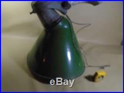VINTAGE TEXACO MOBILE POLE Light Green Porcelain SIGN Gas PUMP LAMP FIXTURE