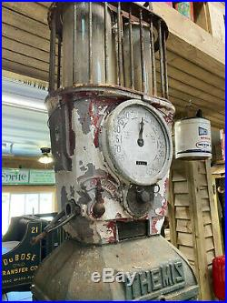 Very Rare Vintage Dual Cylinder Clock Face Style Themis Gas Pump Like Texaco