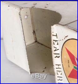 Vintage 1930's Texaco Gas pump island paper towel window wash box