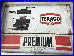 Vintage 1960s/70s Wayne Texaco Petrol Gas Pump Face Plate