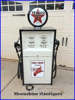 Vintage 1960s TEXACO Fire Chief Bennett Dual Gas Pump Mancave / Garage Decor