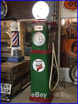 Vintage Bennett Clockface Gas Pump In Texaco With New