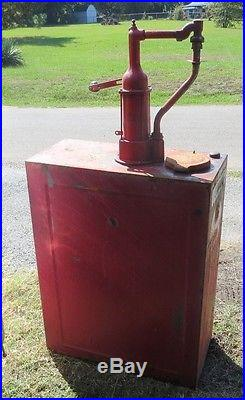 Vintage Bulk Oil Dispenser Gas Pump Lubester Gulf Texaco Phillips 66 Red