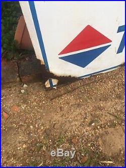 Vintage CAUTION TEXAS GAS porcelain sign TEXACO GAS gasoline oil gas pump