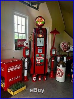 Vintage Eco Air Meter Gas Oil Red Texaco Restored With Light Pole GAS PUMP