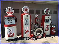 Vintage Eco Airmeter An 2 Vintage Gas Pump PAIR! Restored! CAN SHIP Texaco
