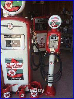 Vintage Eco Airmeter An Bennett 1066 Gas Pump PAIR! Restored! CAN SHIP Texaco