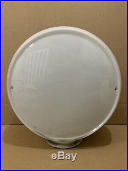 Vintage Gas Pump Globe Glass Top Texaco Esso Atlantic Sinclair Service Station