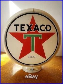 Vintage Original Glass Texaco Gas Pump Globe
