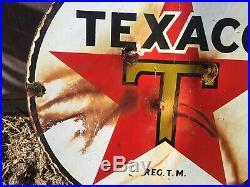 Vintage Original Texaco Gas Pump Sign