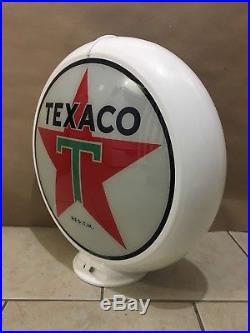 Vintage Original Texaco Gasoline Globe Glass lens Sign Gas Pump