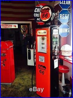 Vintage PHILLIPS 66 GASOLINE Tokheim 39 Tall Gas Pump