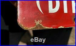 Vintage Porcelain Texaco Diesel Chief Fuel Gas Pump Plate Metal Sign Oil 18X12in