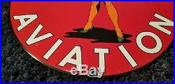 Vintage Porcelain Wwii Era Texaco Gas Service Pump Plate P-40 Pin Up Girl Sign