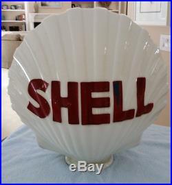 Vintage Shell Gas Pump Globe Exxon Mobile Texaco