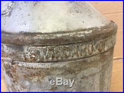 Vintage Standard Oil 5 Gallon Container Jug Texaco Gas Station Pump Sign Gal
