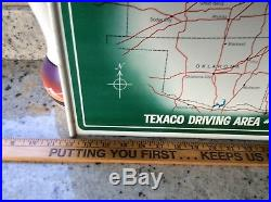 Vintage TEXACO SKY CHIEF Gasoline Tin Sign Localized For You Gas Pump Topper