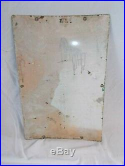 Vintage TEXACO Sky Chief Porcelain Gas Pump SignMeasures 18 X 12Circa 3/1959