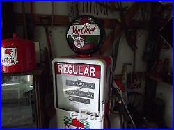 Vintage TEXACO Sky Chief Regular BOWSER Electric Gas Pump
