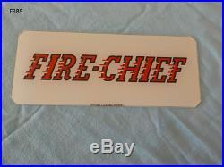 Vintage TEXACO Texas Company Fire Chief Gas Pump Plate