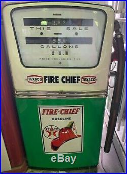 Vintage Texaco Fire Chief Gas Pump-restored
