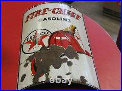 Vintage Texaco Fire Chief Visible Gas Pump Porcelain Sign