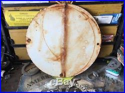 Vintage Texaco Gasoline Gas Pump Porcelain Sign 12 In