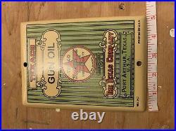 Vintage Texaco Gun Oil Port Arthur Texas Porcelain Sign Gas Oil Pump Plate Petro