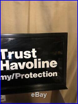Vintage Texaco Havoline Gas Pump Sign Topper NOS
